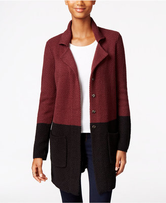 Style & Co. Colorblocked Sweater Jacket, Only at Macy's $69.50 thestylecure.com