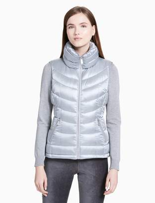 Calvin Klein metallic puffer vest
