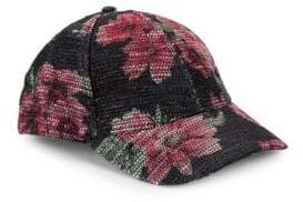 Collection 18 Sparkle Floral Baseball Cap