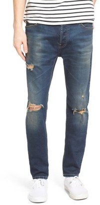 Men's Topman Ripped Stretch Skinny Fit Jeans $75 thestylecure.com