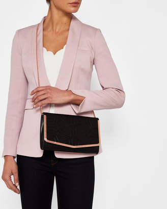 Ted Baker JENAA Bow embossed leather clutch bag