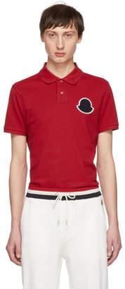 Moncler Red Maglia Boxer Polo