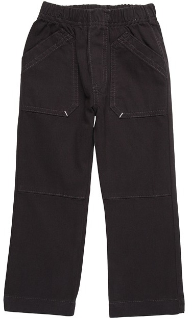 Charlie Rocket Textured Twill Pull-On Pant (Infant/Toddler) (Ebony) - Apparel