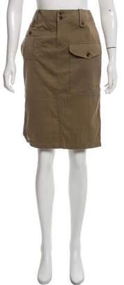 Ralph Lauren Black Label Knee-Length Khaki Skirt
