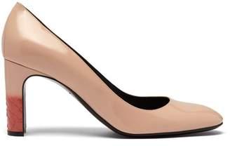 Bottega Veneta Intrecciato Leather Pumps - Womens - Light Pink