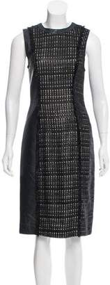 J. Mendel Fringe-Trimmed Knee-Length Dress