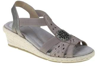 Earth Origins Naples Nanci Open Toe Espadrille Wedge Sandal