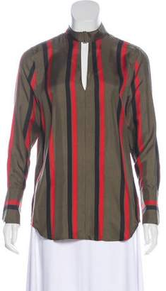 Equipment Stripe Long Sleeve Blouse