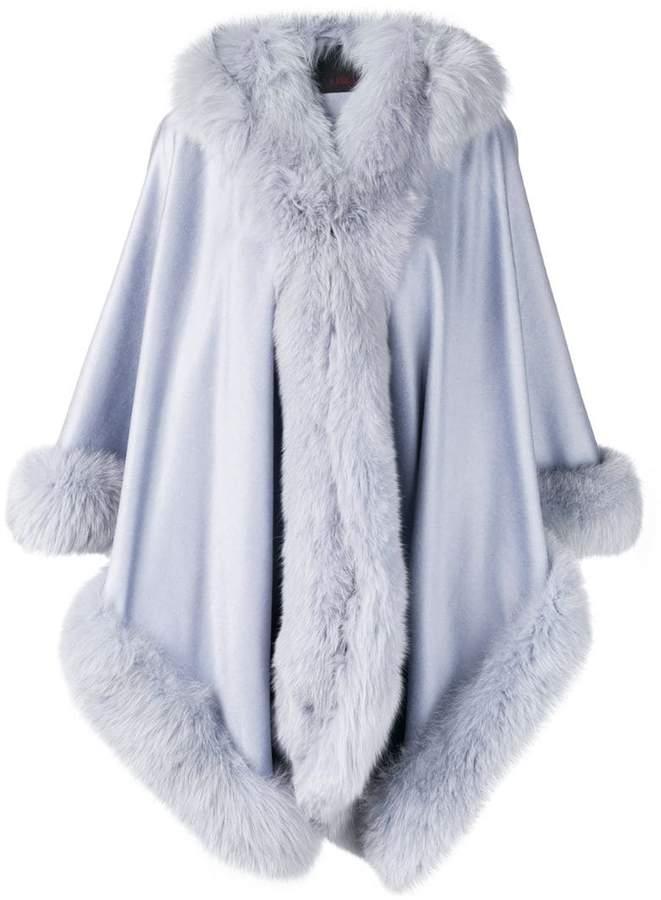 Liska hooded fur-trimmed coat