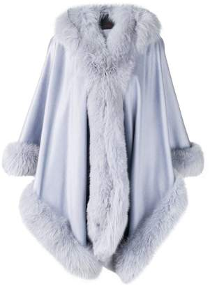 Liska hooded fur-trimmed coat