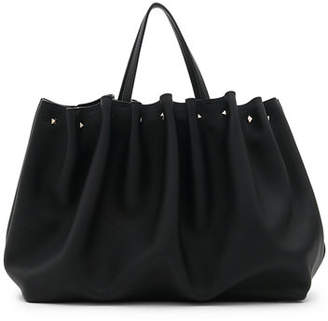 Valentino Bloomy Gathered Pebbled Leather Tote Bag