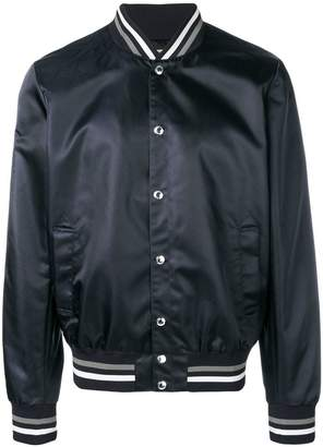 MAISON KITSUNÉ logo print bomber jacket