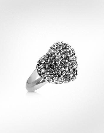 Gisèle St.Moritz Fantasmania - Crystal Black Heart Ring