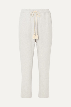 The Upside Byron Tasseled French Cotton-terry Track Pants - Beige