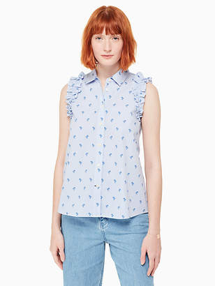 Kate Spade Sleeveless palm tree top