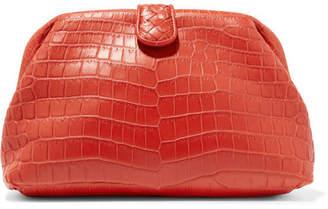 Bottega Veneta Lauren 1980 Crocodile Clutch - Red