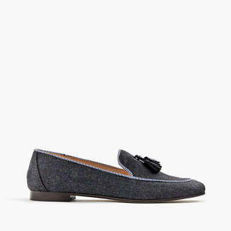 Charlie loafers in wool flannel $188 thestylecure.com