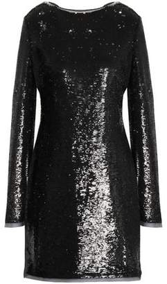Rachel Zoe Tie-Back Sequined Chiffon Mini Dress