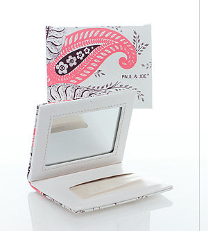Paul & Joe - Blotting Paper and Mirrored Case 2009 - Pink & Brown Pattern - 1 set
