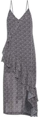 IRO Granby Ruffle-trimmed Floral-print Georgette Midi Dress