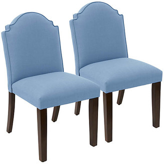 One Kings Lane Set of 2 Elloree Side Chairs - French Blue Linen