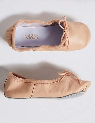 Marks and Spencer Kids' Leather Dance Ballet Shoes (5 Small - 4 Large)