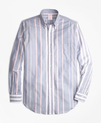 Brooks Brothers Madison Fit Oxford Bold Stripe Sport Shirt