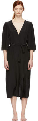 Le Petit Trou Black Silk Estime Robe
