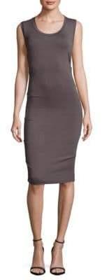 Nicole Miller Striped Tuck Dress