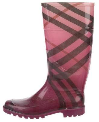 Burberry Check Rain Boots