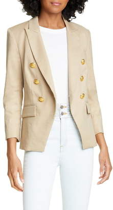 Veronica Beard Empire Linen Blend Dickey Jacket