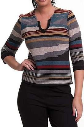 Bali Corp. Multi Color V Neck Sweater Top