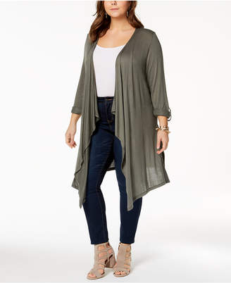 INC International Concepts I.n.c. Plus Size Duster Cardigan, Created for Macy's