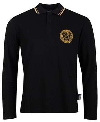 Versace Chest Logo Regular Fit Polo Shirt Colour: BLACK,