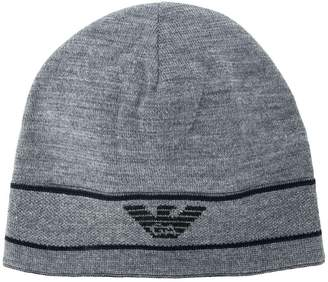 Emporio Armani logo embroidered beanie hat ae45abced003