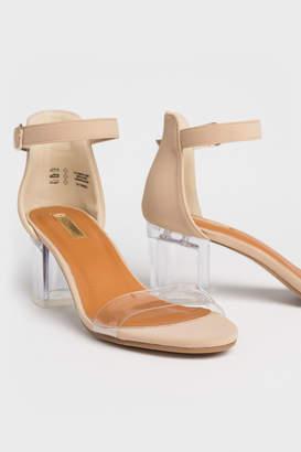 clear Ardene D'Orsay Block Heels