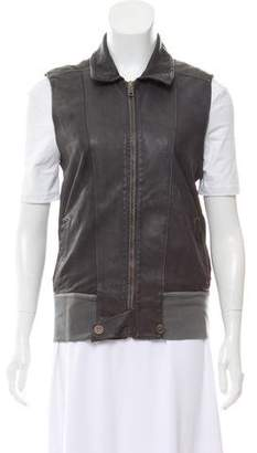 Collection Privée? Collared Zip-Up Vest