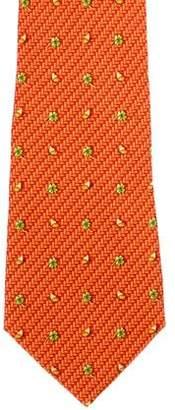 Salvatore Ferragamo Clover & Butterfly Silk Tie