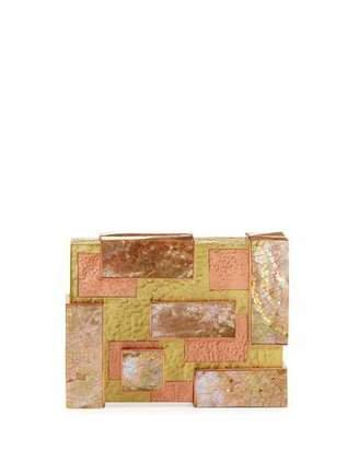 Rafe Ramya Cubist Minaudiere, Copper/Gold