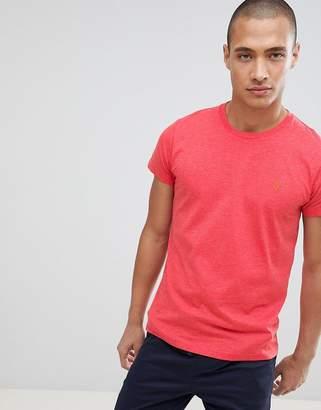 Farah Gloor slim fit logo marl t-shirt in red