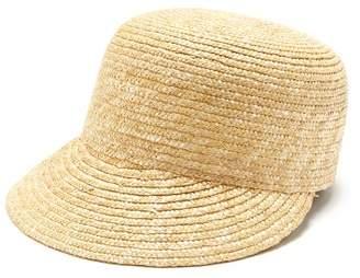 BEIGE Reinhard Plank Hats - Woven Straw Cadet Cap - Womens