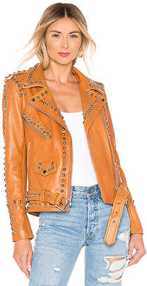 Understated Leather Western Dome Easy Rider Jacket