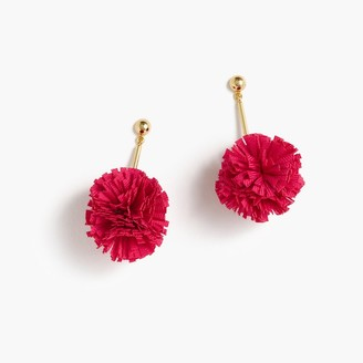 Gathered carnation earrings $24.50 thestylecure.com