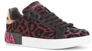Dolce & Gabbana Leopard Lace-Up Sneaker