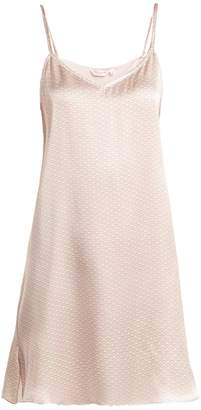 Derek Rose Brindisi slip dress