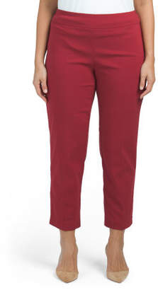 Plus Ankle Pants With Rivets