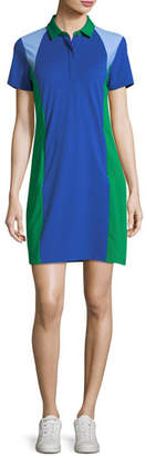 Tory Sport Colorblock Pique Polo Dress