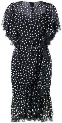 Dolce & Gabbana polka dot flounced dress