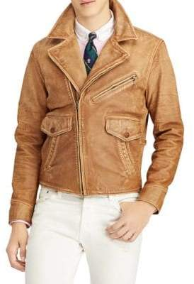Polo Ralph Lauren Leather Newsboy Jacket