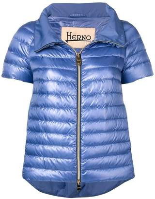 Herno short-sleeve padded jacket